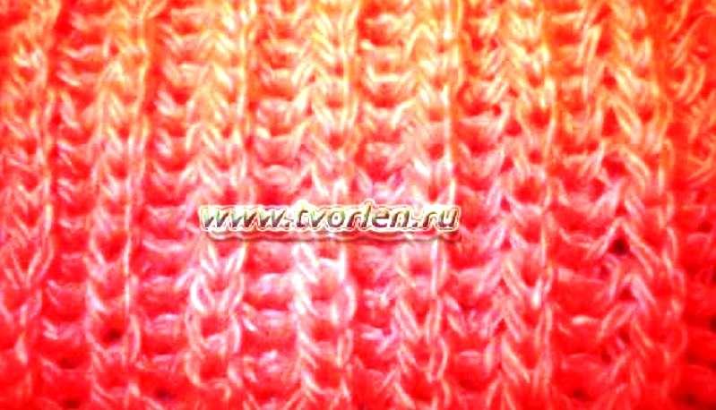 вязание классической резинки