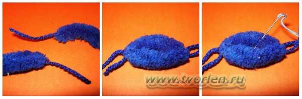 вяжем шарф из пряжи с помпонами (1)
