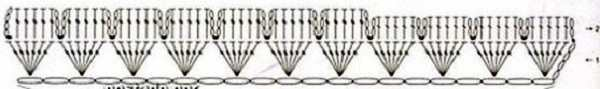 схема ленты для объмного цветка крючком (14)