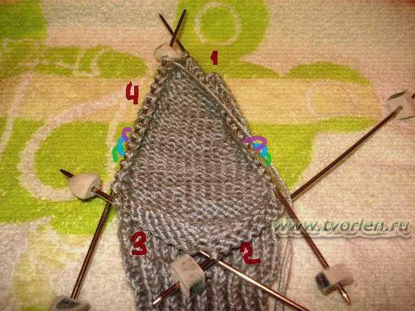 вяжем носки на пяти спицах (14)