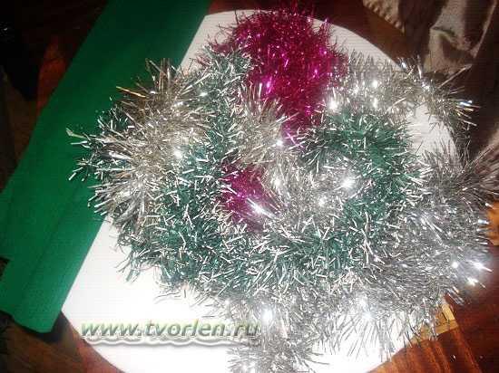 как сделать новогодний венок (2)