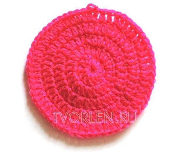как вязать круг крючком (3)