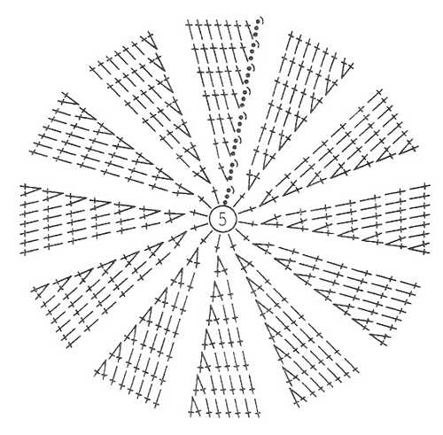 круг крючком схема Ну, что ж