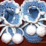 Пинетки связанные крючком — схема и описание