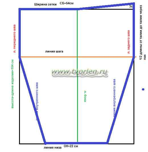 строим выкройку рейтуз (6)