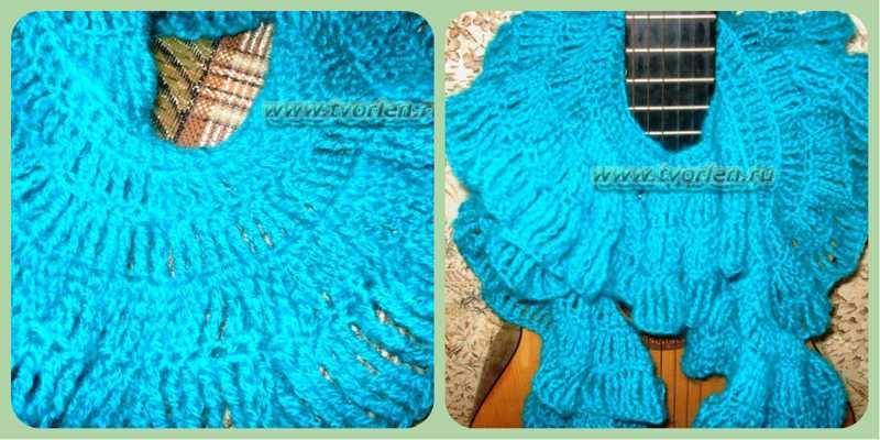 collage шарф крючком