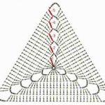 Геометрические фигуры крючком. Треугольник.