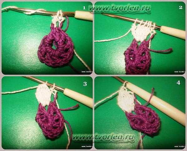 объемный цветок крючком (2)