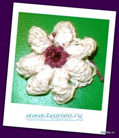 маленький цветочек крючком