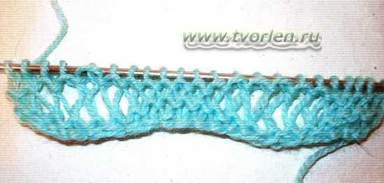 узор спицами с вытянутыми петлями (3)
