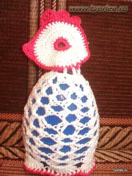 вязаная пасхальная курочка и зайчик крючком (10)