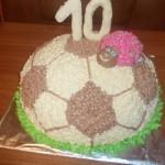 Сладкий мяч для любителя футбола)))
