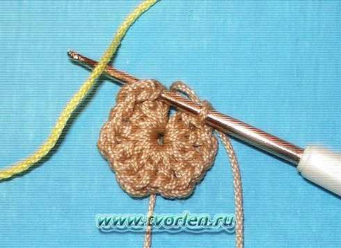 Как закреплять петлю при вязании крючком