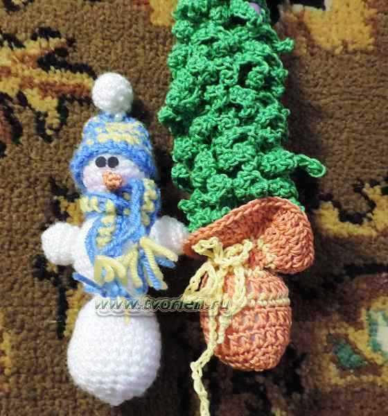 снеговик вязаный крючком (3)