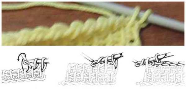 плетенка - простое тунисское вязание (3)