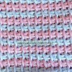 Тунисское вязание в несколько цветов