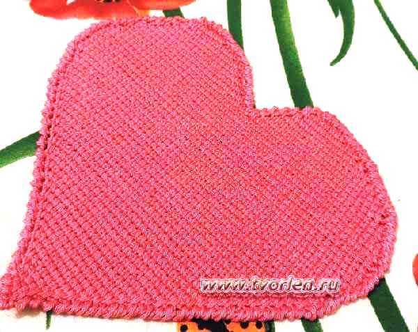 салфетка-сердце-тунисское-вязание-2