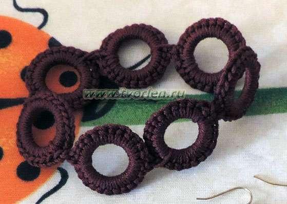 Вязание крючком обвязка колец 42