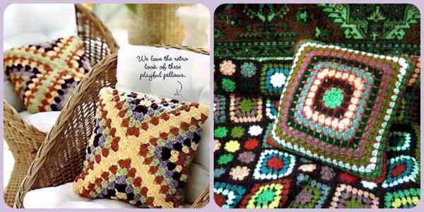 бабушкин квадрат подушки-одеяла