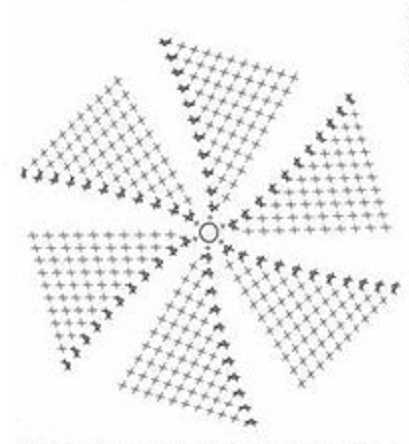 Вязание круга крючком без накида 24