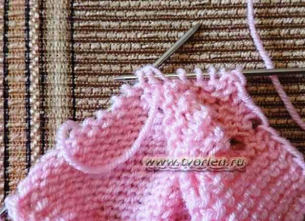 пинетки для новорожденного на двух спицах (8)