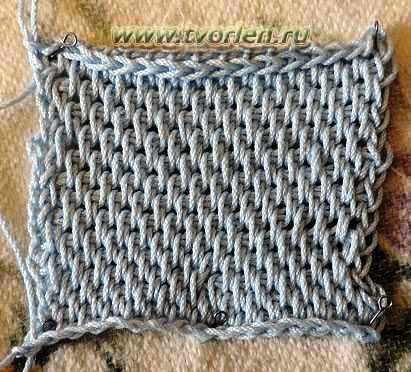 Тунисское вязание простая плетенка 27