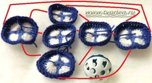 мячик крючком из мотивов (2)