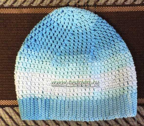 летняя шапочка для младенца крючком (3)