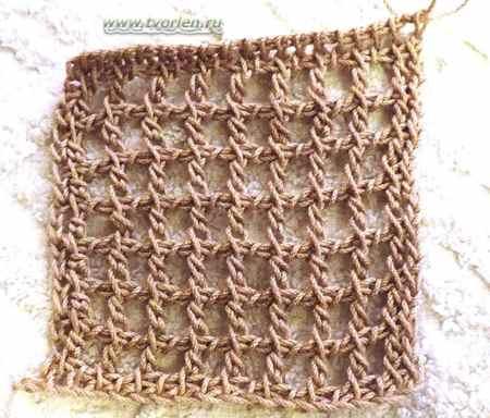 тунисская сетка крючком