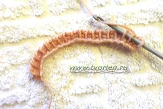 узор с диагональными полосами тунисским крючком (3)