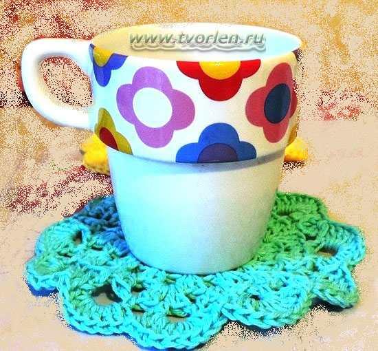 Схемы простых и красивых салфеток вязание