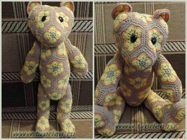 медведь из мотивов африканский цветок
