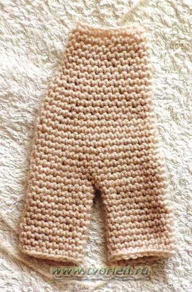 вяжем куклу-тело и ноги куклы Маши