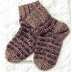 Вяжем носки крючком — практика