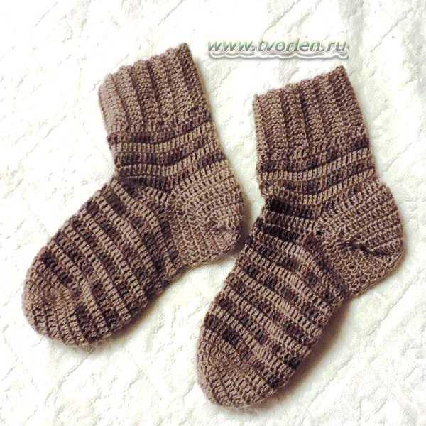 связать носки крючком практика (14)