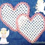 Салфетка для влюблённых к дню Святого Валентина