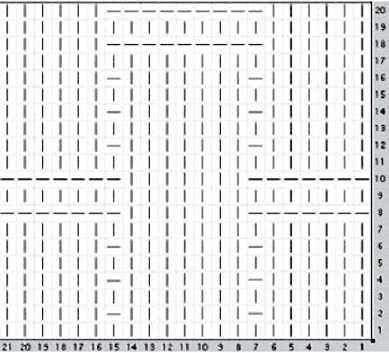 узор плетёнка спицами-схема