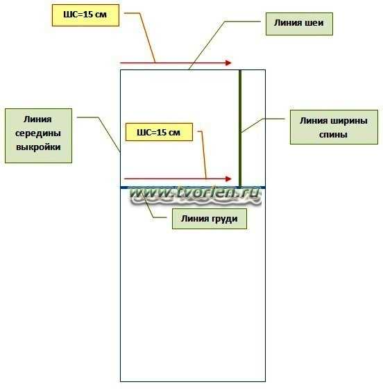 как сделать выкройку для безрукавки (3)