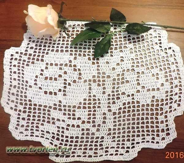 схема салфетки в технике филейного вязания (3)