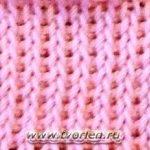 Лицевая вязка (тунисское вязание)