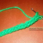 Как вязать шнур крючком на двух петлях