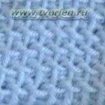 Изнаночная вязка (тунисское вязание)