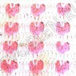Узор с сердечками крючком накладными столбиками – схема и описание вязания