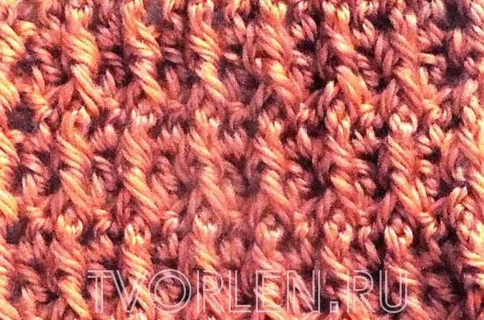 ложная резинка крючком рельефные столбики