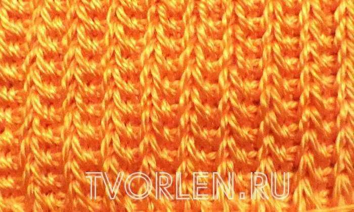 Вязание тунисское резинка 3