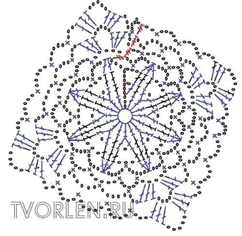 мотив для шали - схема