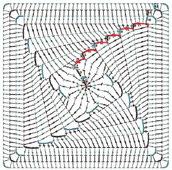 Интересный вязаный мотив -схема (1)