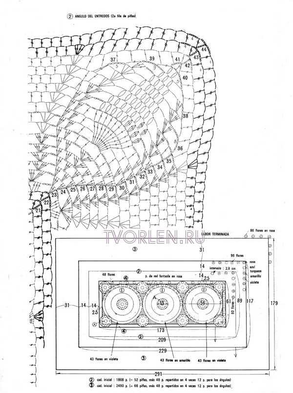 схема красивого покрывала-обвязка (2)