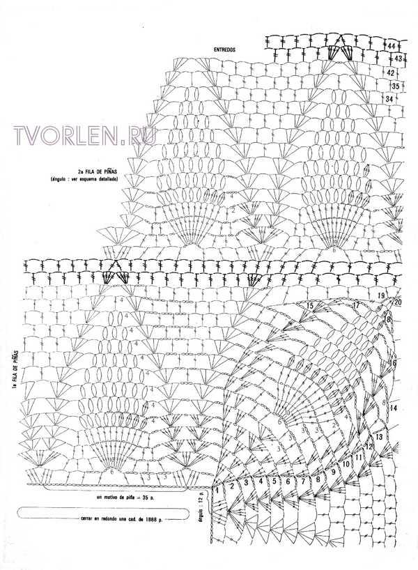 схема красивого покрывала-обвязка (3)