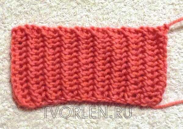Ажурная резинка для вязания 16